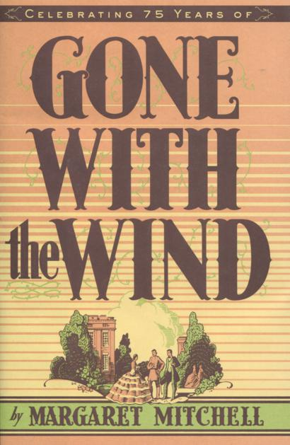 Cover of Gone with the Wind features a southern plantation against a sunset