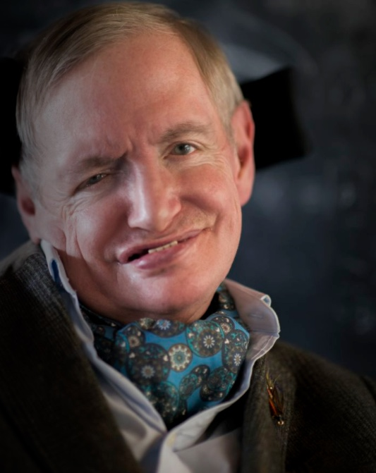 Stephen Hawking smiles