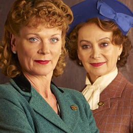 Frances Barden (Samantha Bond) and Joyce Cameron (Francesca Annis), of Home Fires on Masterpiece
