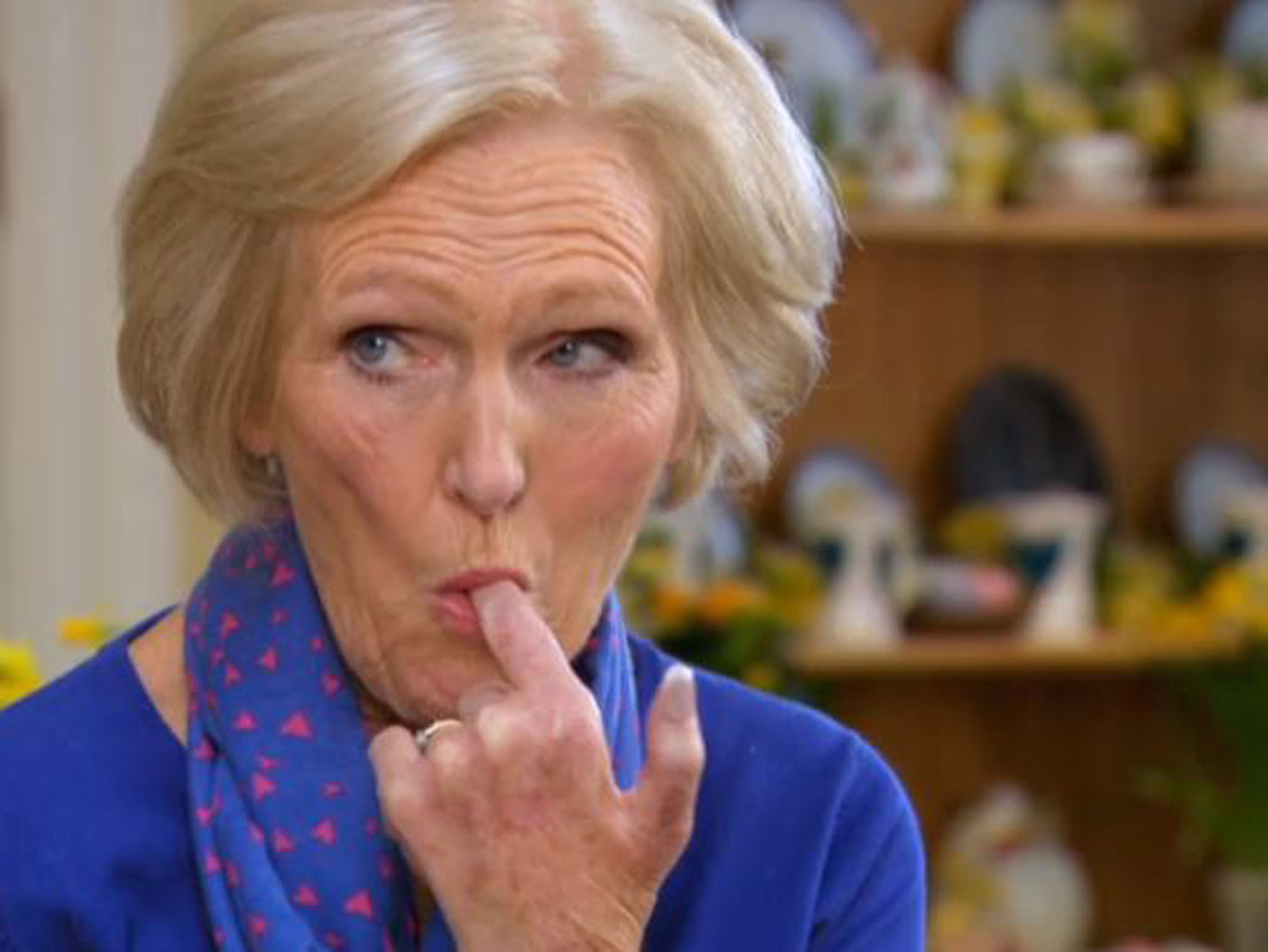 Mary Berry takes a taste on the Great British Baking Show