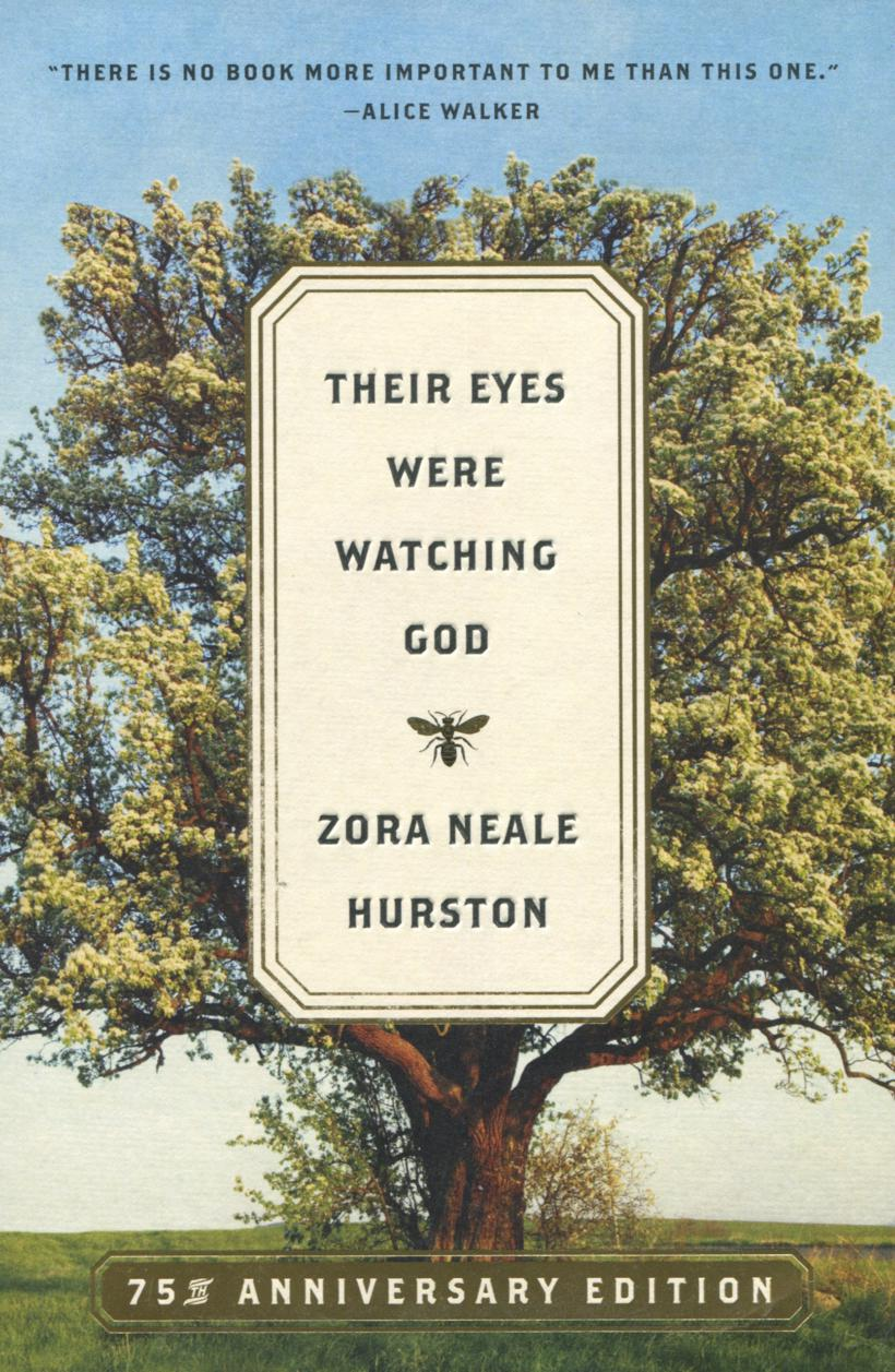 Their Eyes Were Watching God cover shows the title on the background of a leafy tree