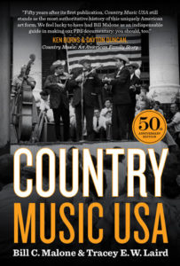 Cover of the 50th anniversary edition of Country Music U.S.A., featuring a western-style ensemble of the 1950s.