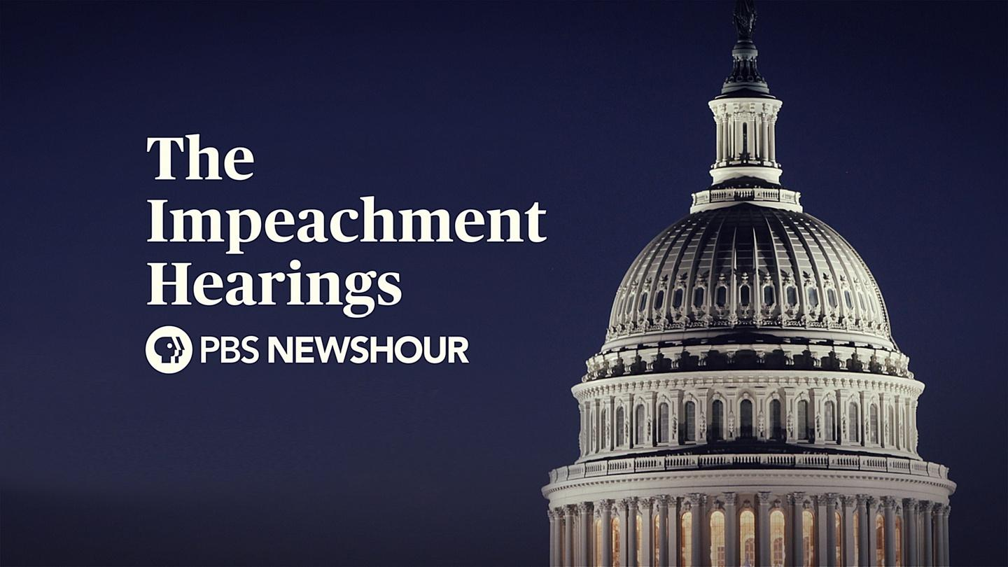 Public Impeachment Hearings