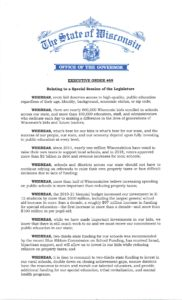 Evers Executive order for school funding