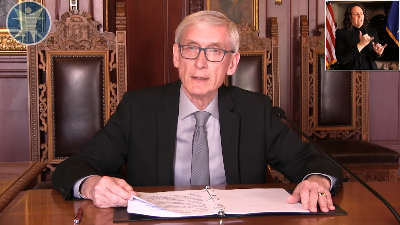 Evers Discusses Federal and State Action on COVID-19