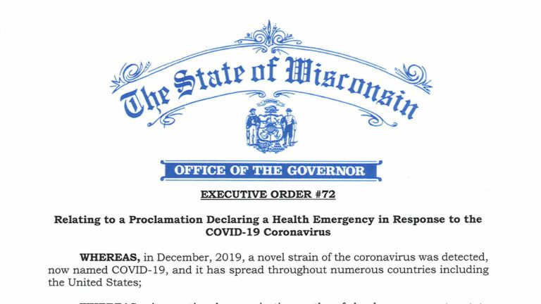 Gov. Tony Evers Executive Order 72.