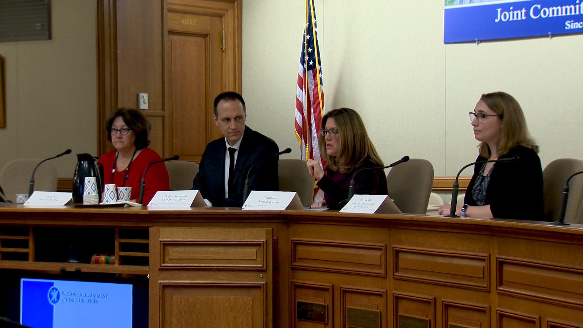 Department of Health Services Secretary Designee-Andrea Palm and department staff brief legislators on the state's response to the novel coronavirus March 4, 2020.