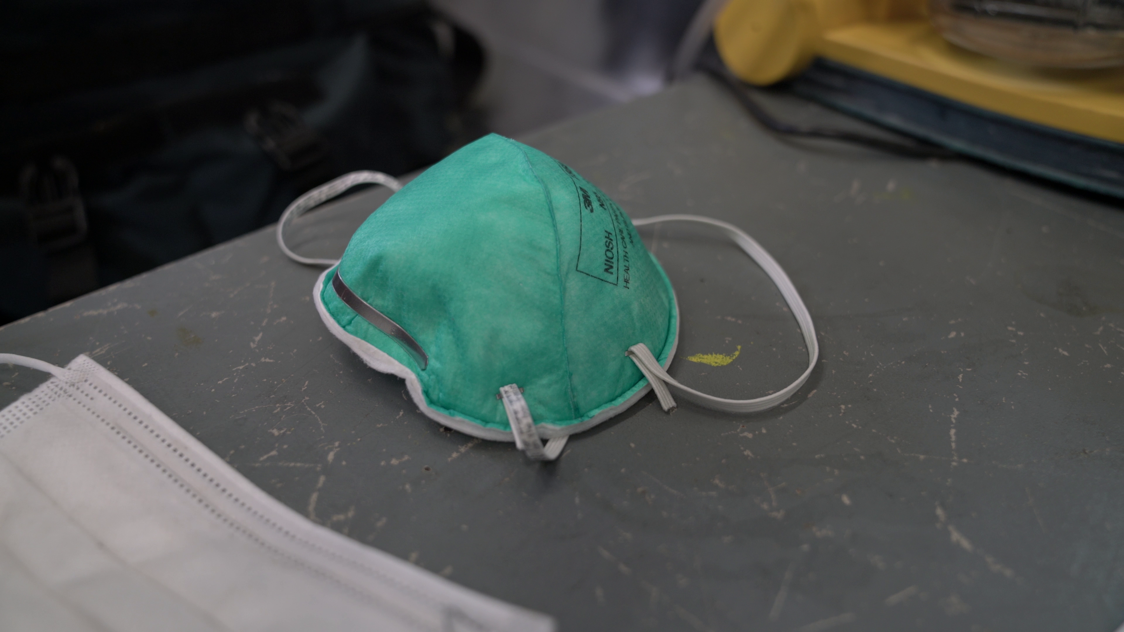 N95 mask from a Cambridge Area EMS ambulance.