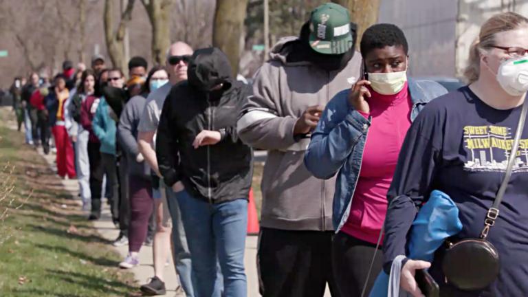 Milwaukee voters in line