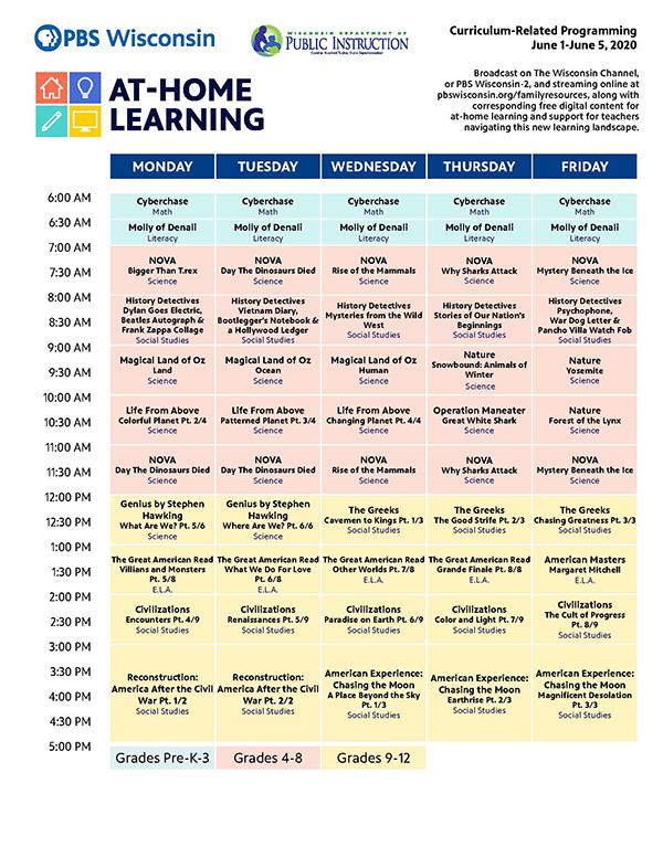 television schedule