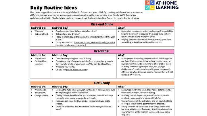 Daily Activity Ideas