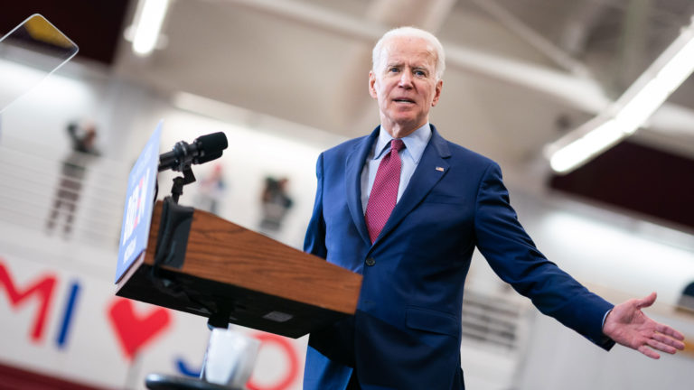 Image of Democratic presidential candidate Joe Biden
