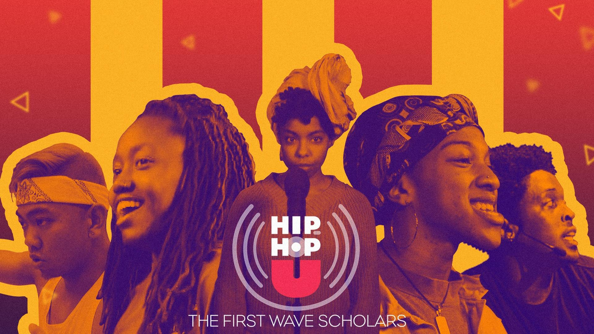 Photo illustration of five First Wave performers