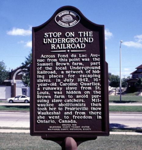 Historic marker sign