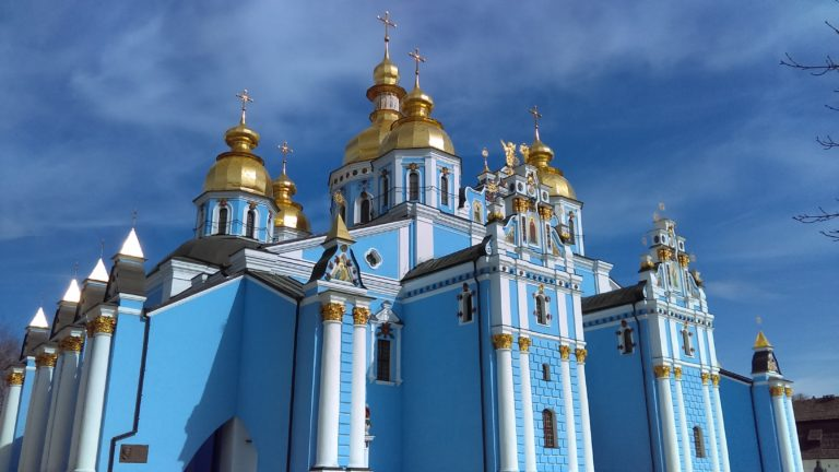 Ancient architecture in blue – St. Michael's Golden-Domed Monastery
