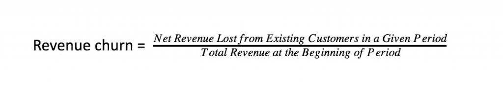 calculate revenue churn