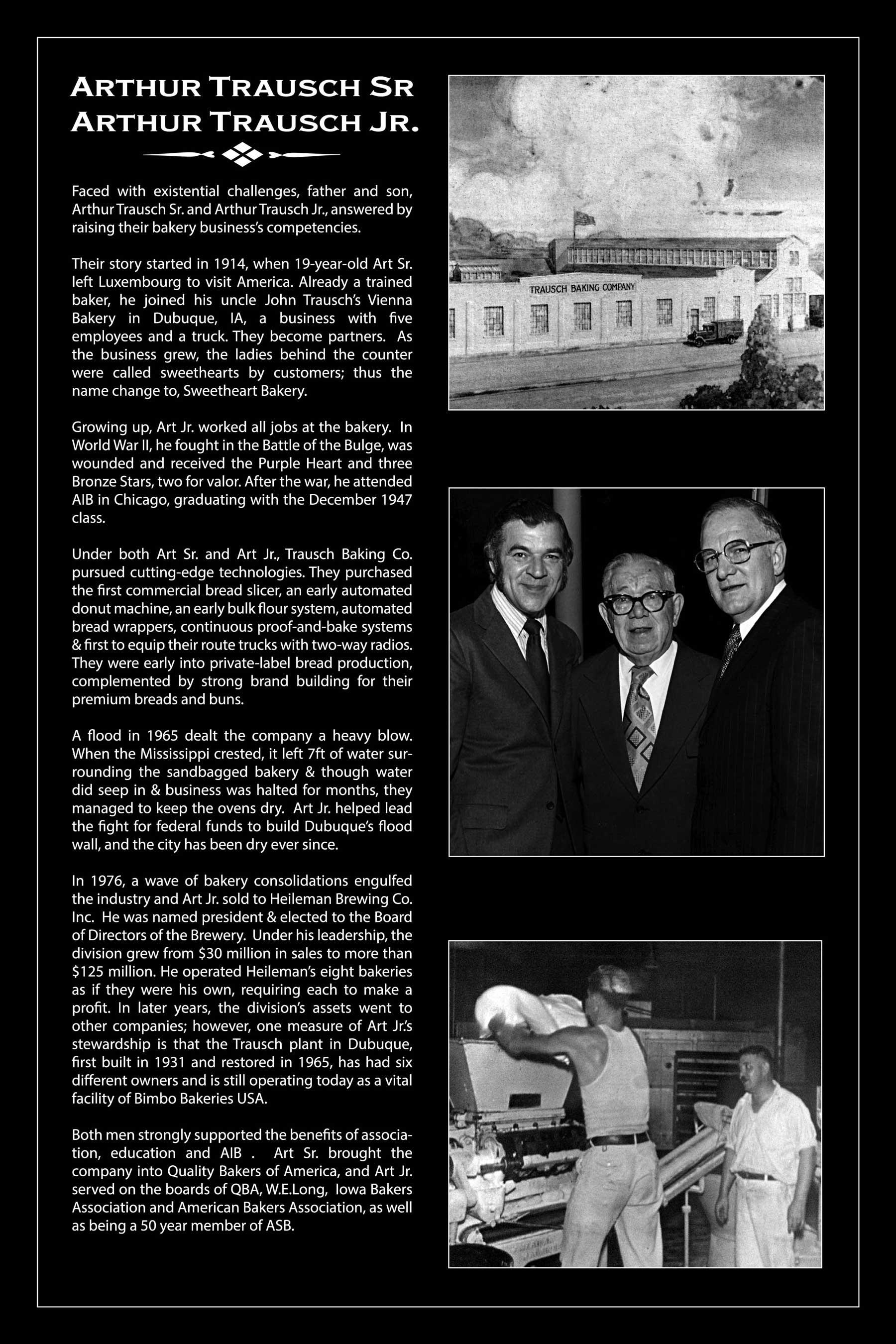 Baking Hall of Fame 2019 - Arthur Trausch Sr  and Arthur Trausch Jr