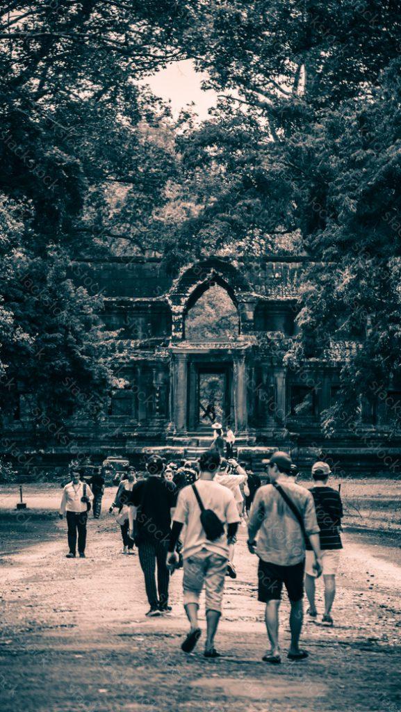 Cambodia, Tourist in Angkor Wat