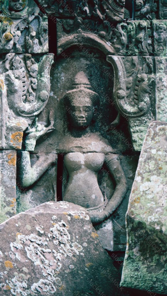 Apsara at Ta Prohm temple, Cambodia.