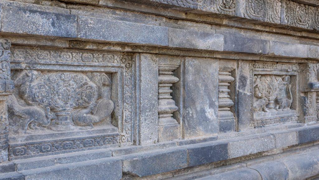 Stone carving of Prambanan Hindu temple, Yogyakarta, Java, Indonesia