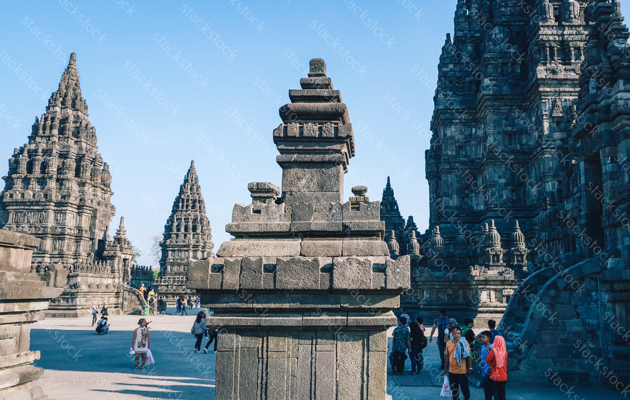 Temple in Prambanan Temple Compounds,Indonesia
