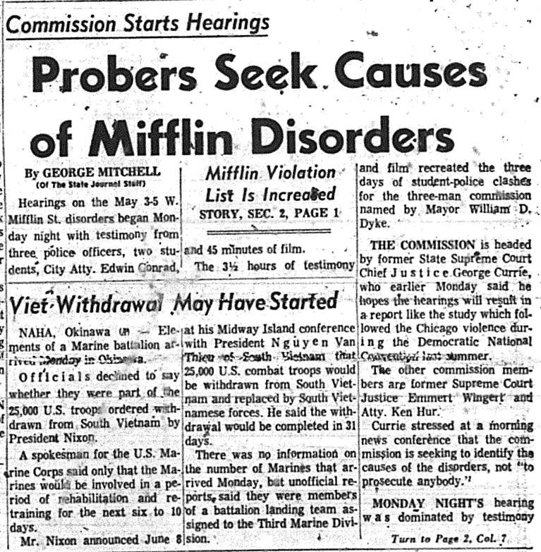 Madison, Third Week of June 1969