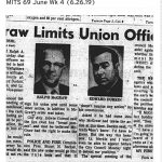 Newspaper clipping from June 1969
