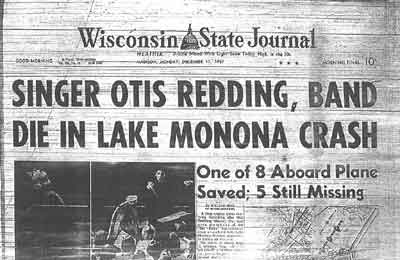 Madison in the Sixties - the death of Otis Redding
