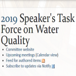 Report out from the 2019 State Water Quality Task Force