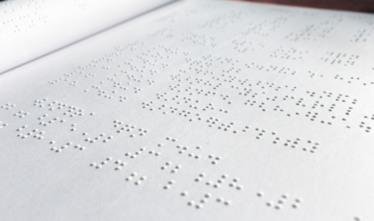 close up image of braille text