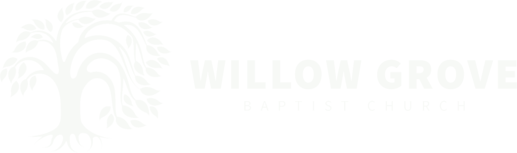 Willow Grove Baptist Church White Logo