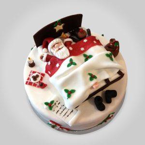 Torta Navidad Papanoel Durmiendo
