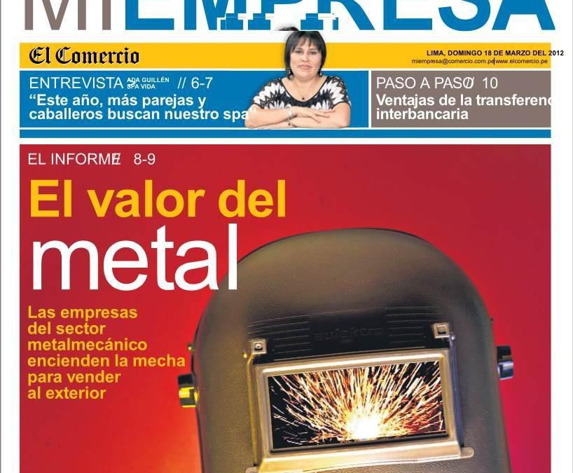 Nota de prensa SpaVida en El Comercio