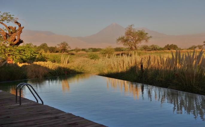 Tierra Atacama pool dusk