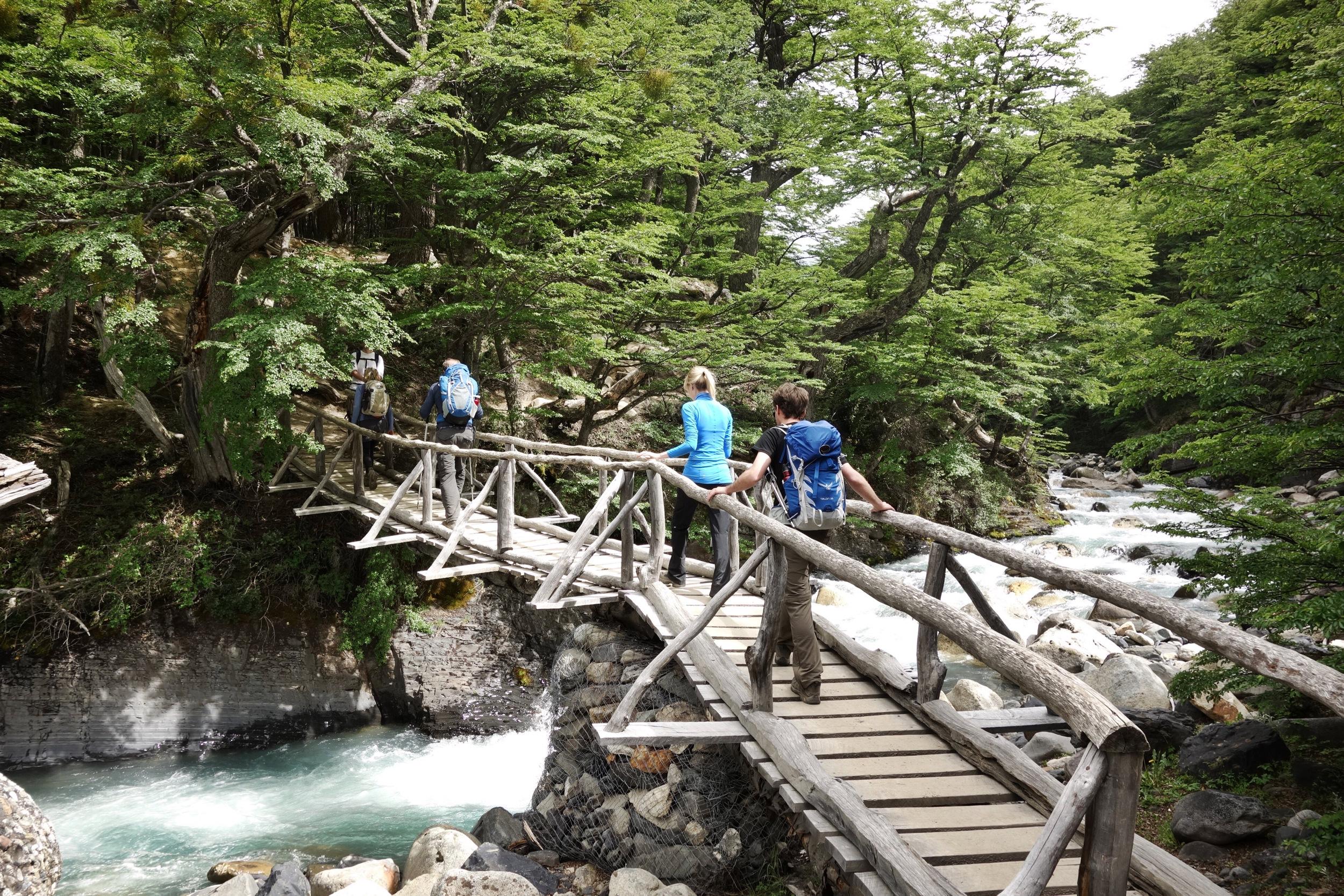Bridge on Torres base hike