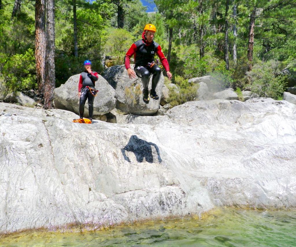 Corsica Canyoning jump