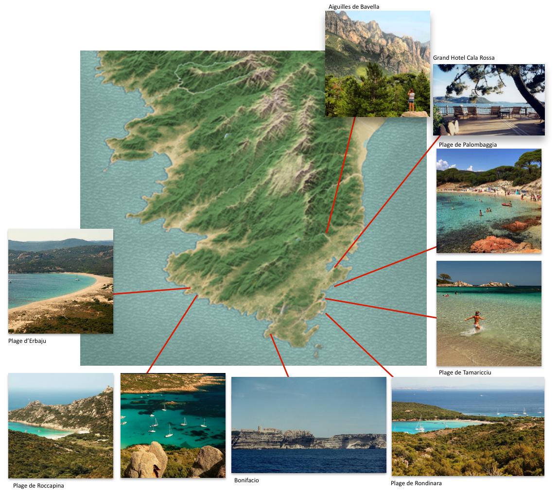 Corsica Picto-Map