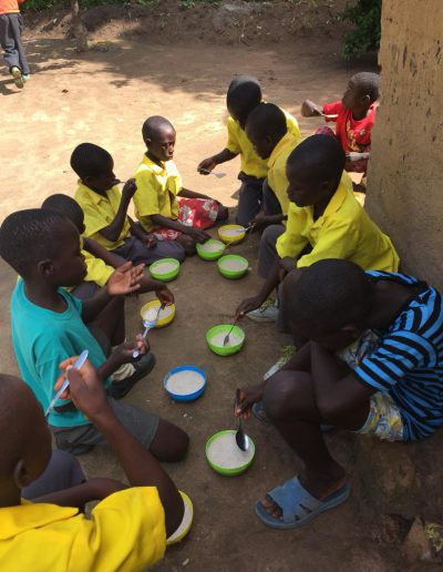 Schoolchildren with their Lunch